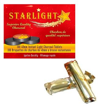 Starlight Hookah Charcoal Tablets 40 mm * 100 ct / Box