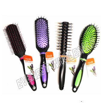 Stylish Hair Brush Assorted Colors * 12 pcs