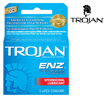 Trojan Condom 3 in Pack * Spermicidal Lubricant * 6 pks