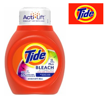 Tide Liquid Laundry Detergent 25 Fl Oz * With Bleach * 6 pcs Case