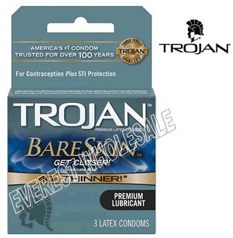 Trojan Condom * BareSkin * 3 in Pack * 6 pks