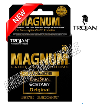 Trojan Magnum 3 in Pack * Magnum Gold Collection * 6 pks