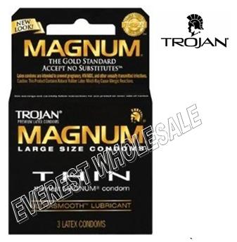 Trojan Magnum 3 in Pack * Thin * 6 pks
