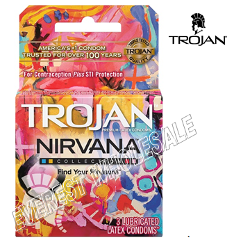 Trojan Condom 3 in Pack * Nirvana * 6 pks