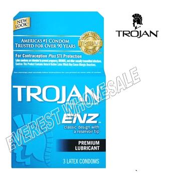 Trojan Condom 3 in Pack * Premium Lubricated * 6 pks