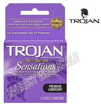 Trojan Condom 3 in Pack * Her Pleasure Sensations * 6 pks