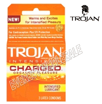 Trojan Condom 3 in Pack * Charged * 6 pks