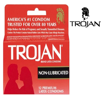 Trojan Condom 3 in Pack * Non Lubricated * 6 pks