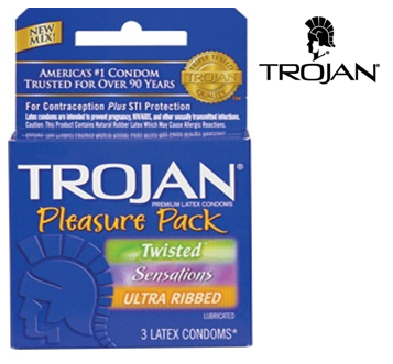 Trojan Condom 3 in Pack * Pleasure Pack * 6 pks