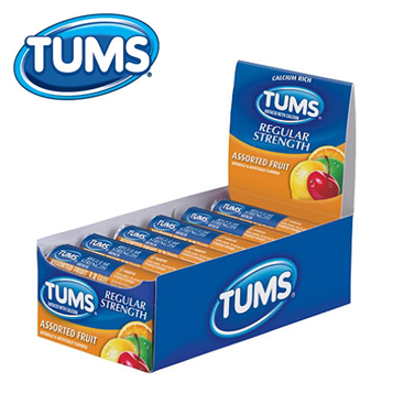 Tums Antacid * Fruit Assorted * 12 pcs