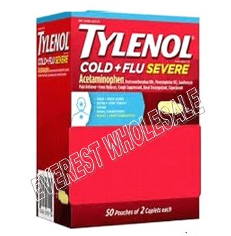 Tylenol Extra Strength * Cold + Flu Severe * 50x2 ct