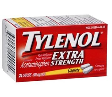 Tylenol Extra Strength 24 Caplets Box * 6 Boxes