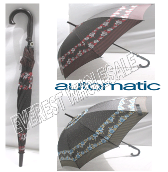 Umbrella Automatic & Durable For Women * Assorted Colors * 6 pcs