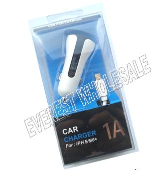 USB Single Port Car Charging Set For Iphone 5, 6 & 7 * 6 pcs