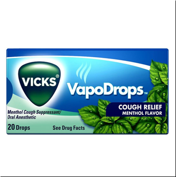 Vicks VapoDrops Cough Relief * Menthol * 20 ct