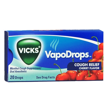 Vicks VapoDrops Cough Relief * Cherry * 20 ct
