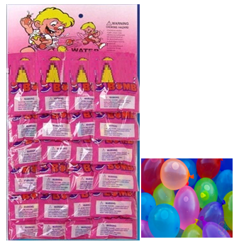 Water Balloons Assorted Colors 24 pck