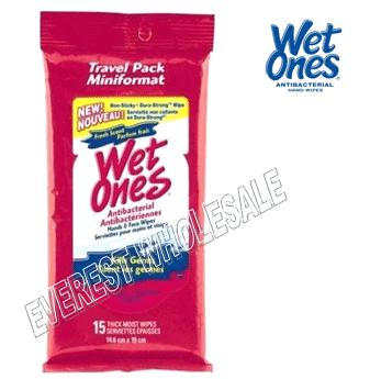 Wet Ones Wet Wipes 15 ct * Fresh Scent * 12 pks