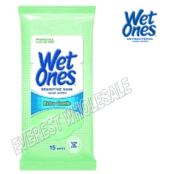 Wet Ones Wet Wipes 15 ct * Sensitive Skin * 12 pks