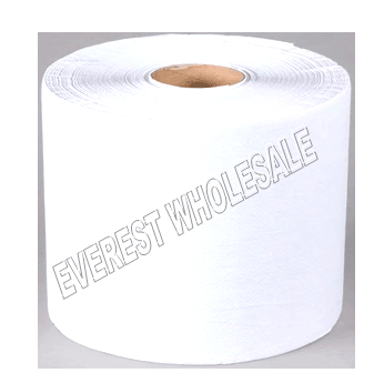 Jumbo Size Paper Bath Towel White * 800 ft * 6 Rolls / Case