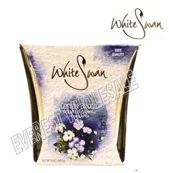 White Swan Scented Candle 10 oz * Cotton Breeze * 6 pcs