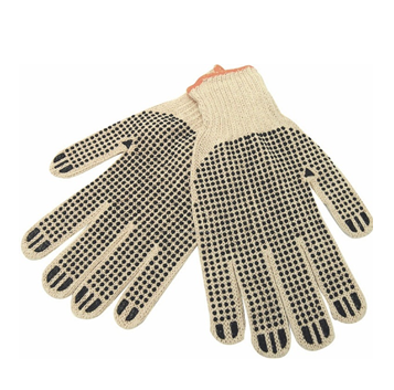 Working Glove White With Rubber Dots * 12 pcs