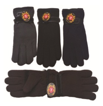 Winter Gloves With Belt * Assorted Colors * 6 pcs
