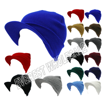 Winter Hat With Visor * Assorted Colors * 6 pcs