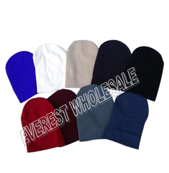Winter Knit Hats Plain * Assorted Colors * 6 pcs