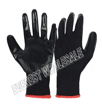 Working Glove Black Rubber * 10 pairs