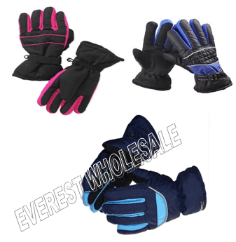 Waterproof Winter Gloves * Assorted Colors * 6 pcs