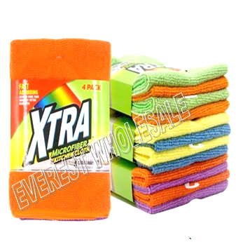 Xtra Microfiber All Purpose Cleaning Cloth 4 ct Pack * 6 Packs