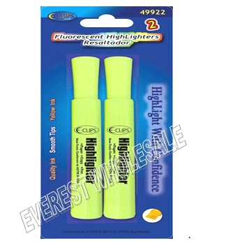 Yellow Highlighters 2 ct Pack * 12 pcs