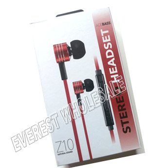 Z10 Natural Sound Stereo Earphones * Great Sound Quality * Red