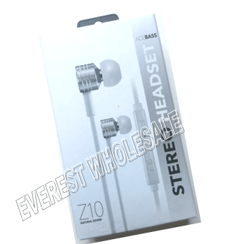 Z10 Natural Sound Stereo Earphones * Great Sound Quality * White