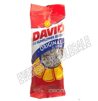 David Sunflower Seeds Tube Bag * Original * 1 5/8 oz * 12 Pcs