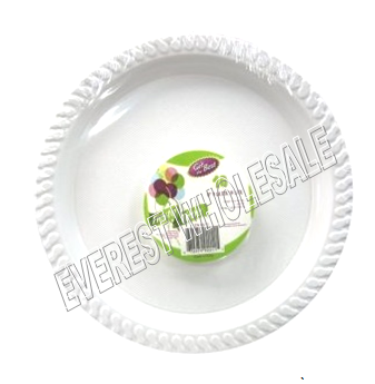 Plastic Plate 9 inch 10 ct * White Color * 12 pcs