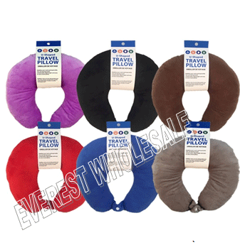 Cotton Travel Pillow * Assorted Colors * 3 pcs